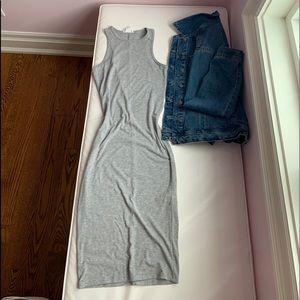 MID LENTH BODYCON DRESS